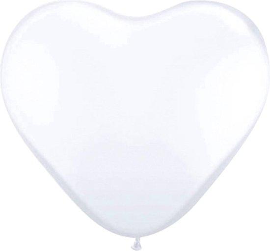 Folat - Ballonnen - Hartjes - Wit - 8st.