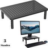 Gohh® Monitor Standaard Verstelbaar - Monitorverhoger voor Computer Beeldscherm of Printer - 1 Stuks Zwart