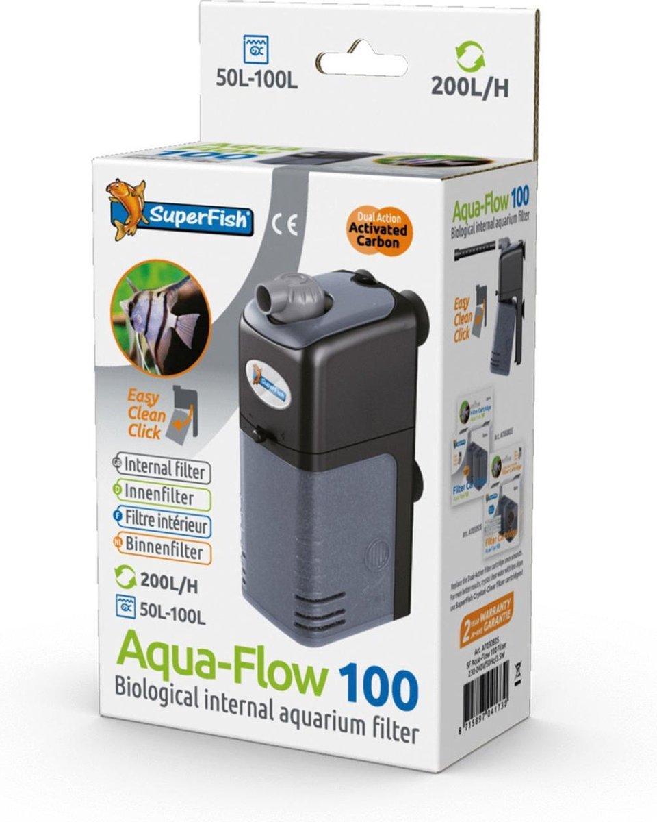 SuperFish AquaFlow Dual Action 100 - Aquariumfilter - 200 L/H