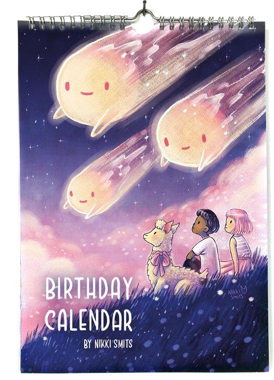 Verjaardagskalender met illustraties van Nikki Smits   Fantasie kunst kalender