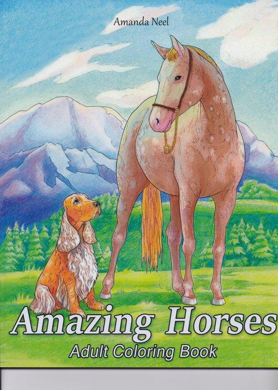 Afbeelding van Amazing Horses Adult Coloring Book - Amanda Neel