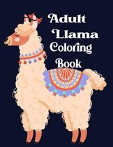 Adult Llama Coloring Book
