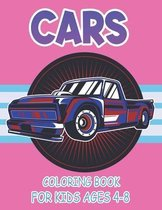 Cars Coloring Book For Kids Ages 4-8