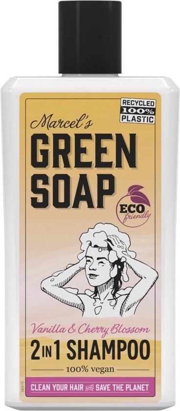 Marcel's Green Soap 2-in-1 Shampoo Vanille & Kersenbloesem 500 ml