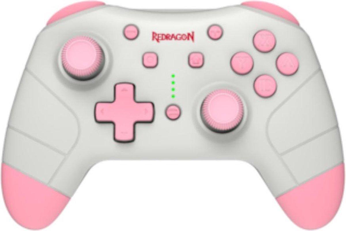 Redragon G815 roze Switch Gaming Controller | Bluetooth & Bedraad met NFC Tag | Ergonomisch | Voor de switch & PC