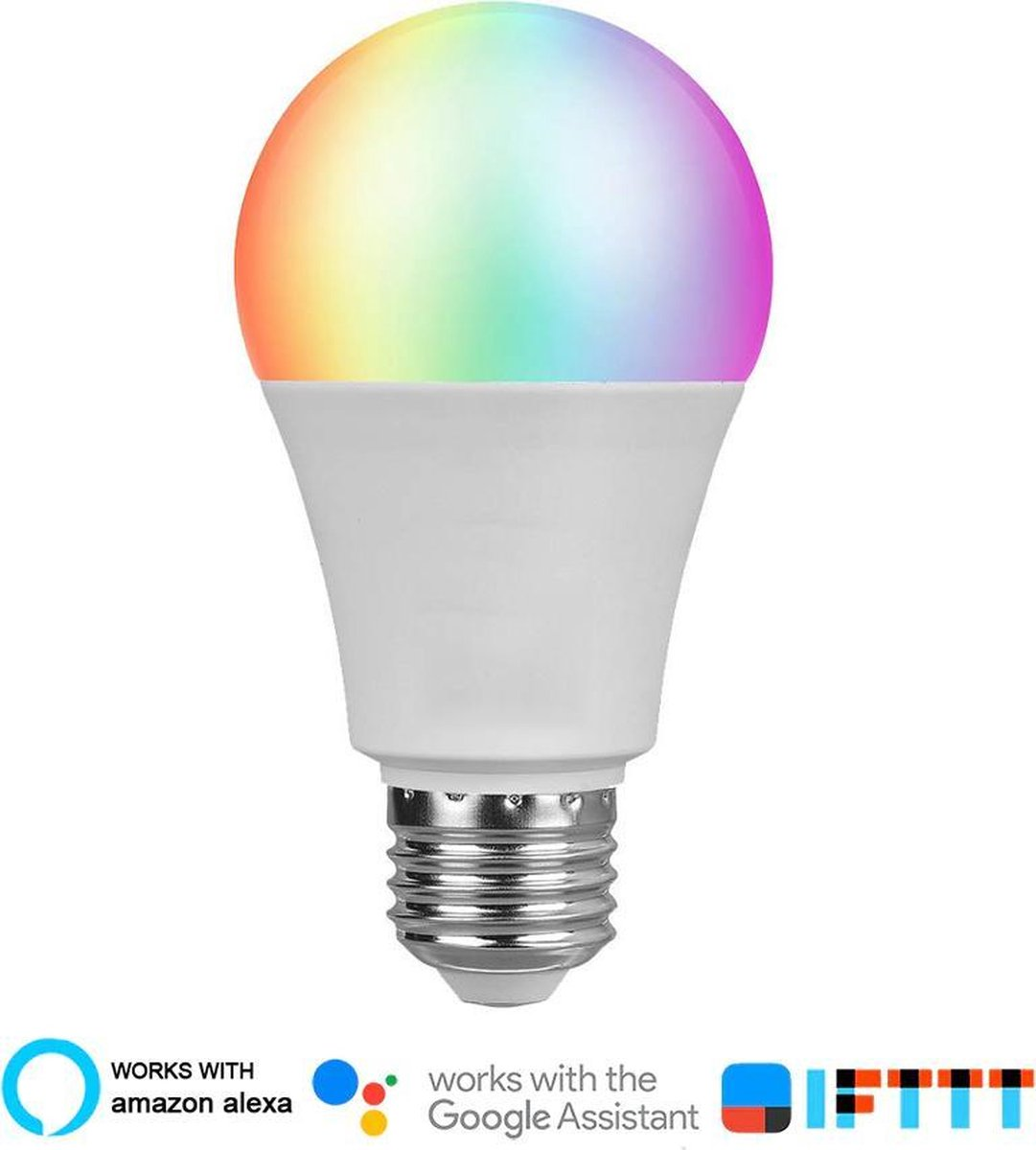 Smart LED - Slimme led lamp E27 (Kleur, Wit, Google home en IFTTT) - Smart Home Beveiliging