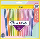 Fineliner Paper Mate Flair Pastel blister à 12 kleuren