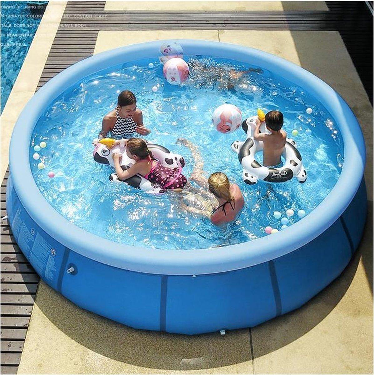 Opblaasbaar zwembad 300*76cm blauw