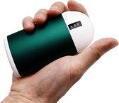Oplaadbare handwarmer - 10000mAh Power Bank USB - Dubbelzijdige verwarming - tot 15 uur warmte - met vibratie stand