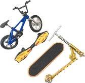 WiseGoods Vinger Skateboard Speelgoed - Fingerboard Skate Set - Tech Deck - Mini BMX - Fiets - Finger Bike - Waveboard / Step