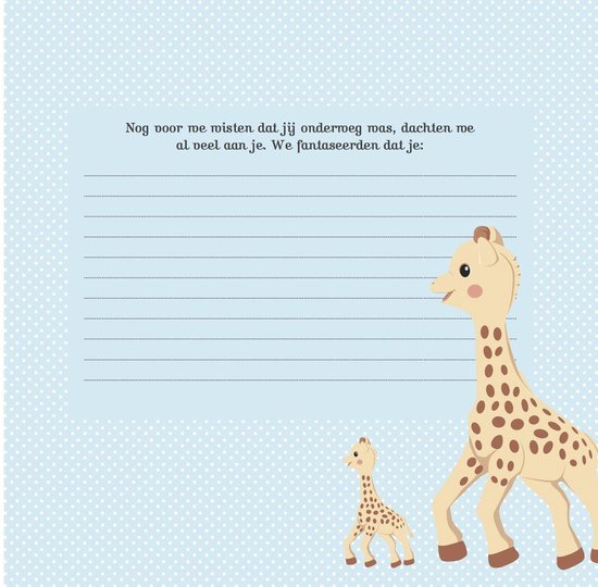 Mijn baby album  -   Sophie de giraf
