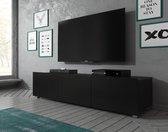TV-Meubel Calgary - Mat Zwart - 150 cm - Staand of Hangend