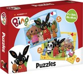 Bing Puzzel - 2x12 stukjes - kinderpuzzel - educatief speelgoed - Multi Color