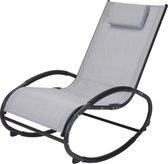 4gardenz schommelstoel met rugkussen - 85x97x53 cm - Lichtgrijs