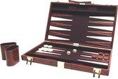 Backgammon Koffer Bruin