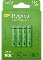 GP ReCyko Rechargeable AAA batterijen (950mAh) - 4 stuks