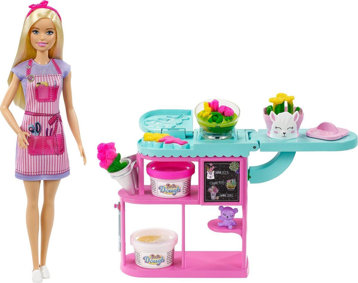 Barbie Bloemist Speelset Blond - Modepop