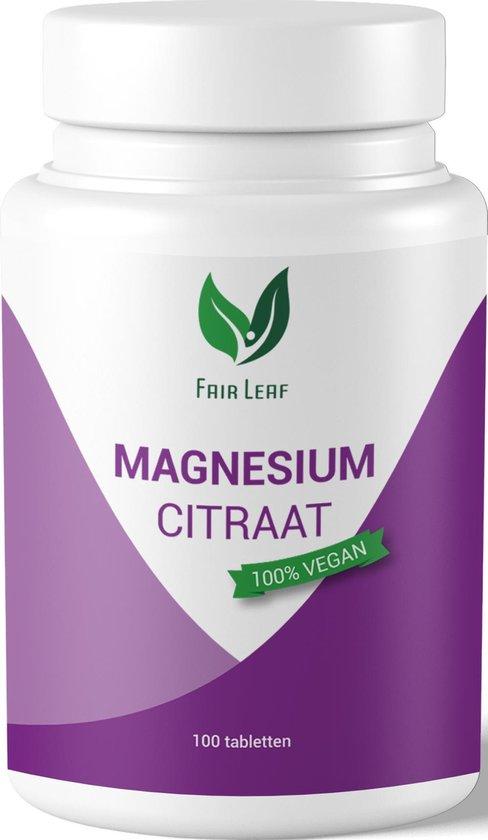 Fair Leaf - Vegan Magnesium Citraat - 400mg - 100 tabletten