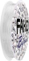 Fako Bijoux® - Elastisch Nylon Draad - Sieraden Maken - 0.4mm - 24 Meter - Transparant