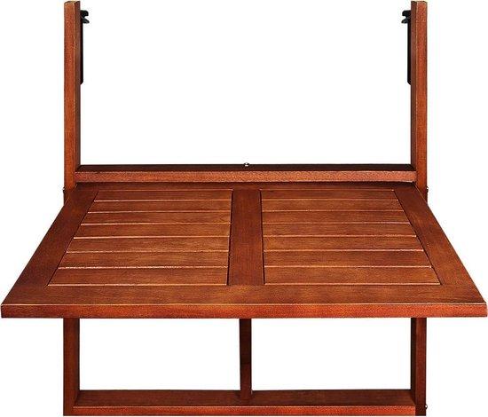 Deuba Balkontafel Inklapbaar - Acaciahout - 65x45x87cm