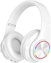 Pro-Care Excellent Quality™ Wireless Bluetooth over-ear Headset met LED verlichting - Microfoon - FM radio en SD card mogelijkheid. Kleur Wit.