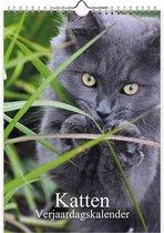Katten Verjaardagskalender - formaat A4