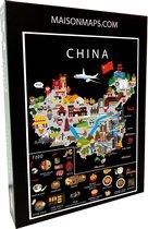 Puzzel van China   1000 stukjes   68x48 cm   Familiepuzzel   Jigsaw   Legpuzzel   Maison Maps