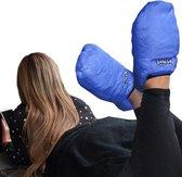 MikaMax - Magnetron Sloffen - Warmte Sloffen Pantoffels - One size - Lavendel geur – blauw