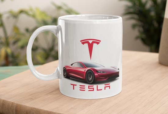 Mok Tesla rood - afbeelding auto