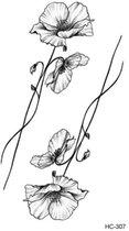 Temporary tattoo | tijdelijke tattoo | fake tattoo | bloem - flower | 6 x 10.5 cm