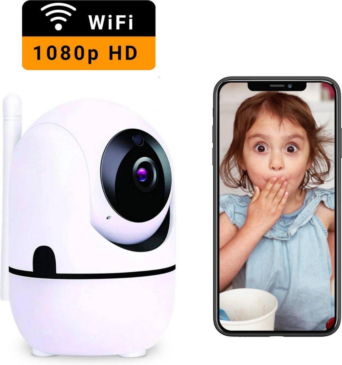 HD Wifi Babyfoon met Camera - Camera Beveiliging - 1080P - Geluid en Bewegingsdetectie - 4G/5G - Wit