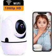 HD Wifi Babyfoon met Camera - Camera Beveiliging - 1080P - Geluid en Bewegingsdetectie - Wit
