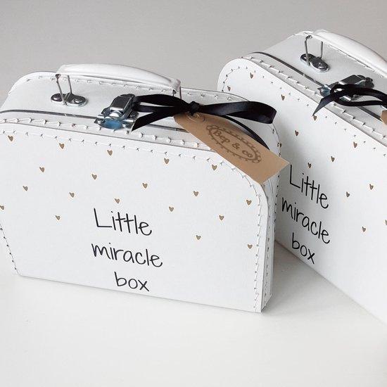Kinderkoffertje van Bep&co: Koffertje Little miracle box -bekendmaking -zwangerschap -aankondiging -baby -opa en oma -cadeau