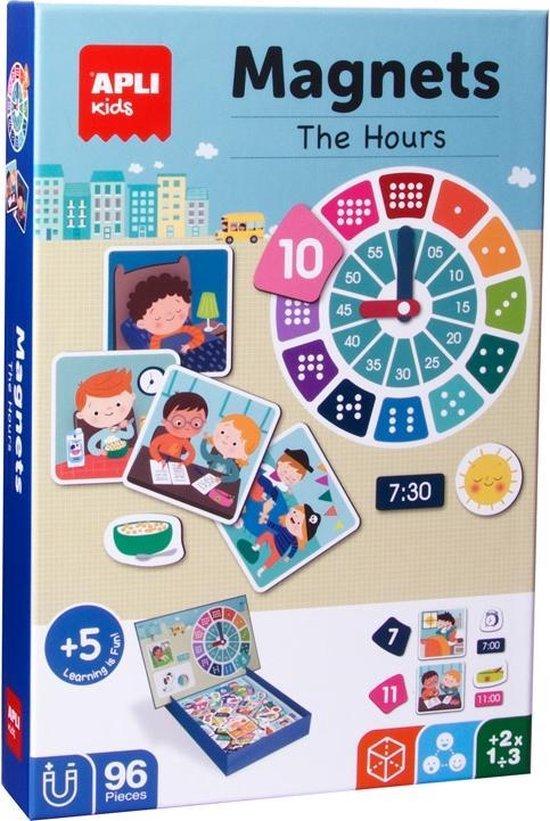 Afbeelding van het spel Apli Kids Leren klokkijken magneetspel