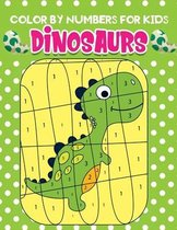 Color by Numbers for kids dinosaurs