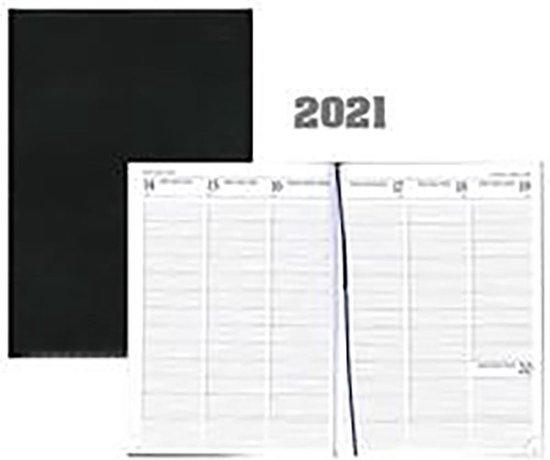 Afbeelding van Bureau-agenda 2021 - MGP - Voyager Luma - A5 - 7d/2p - Zwart