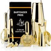 Cocktail Set Bartender Pros™ - Cocktail Shaker - 11-Delige Cocktailset - Boston shaker - Cocktailshaker - Goud - RVS