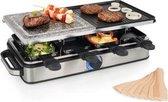 Princess 162635 Gourmetset - Raclette 8 Steen en Grill Deluxe – RVS behuizing