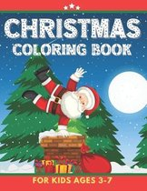 Christmas Coloring Book For Kids Ages 3-7