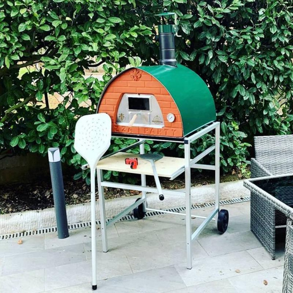Pizza Party - Houtgestookte Pizzaoven - 70 x 70 - Groen