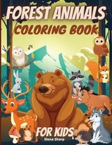 Forest Animals Coloring Book For Kids