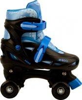 AMIGO Gogo rolschaatsen - Voor jongens en meisjes - Zwart/Lichtblauw - Maat 34-37