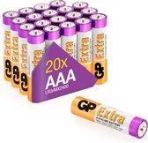 GP Extra Alkaline batterijen AAA micro mini penlite LR03 batterij 1.5V - 20 stuks - AAA batterij