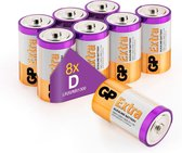 GP Extra Alkaline batterijen D Mono LR20 batterij 1.5V - 8 stuks D batterijen