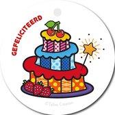 Tallies Cards - kadokaartjes  - bloemenkaartjes - Gefeliciteerd taart - Popart - set van 5 kaarten - verjaardagskaart - verjaardag - felicitatie - proficiat - 100% Duurzaam