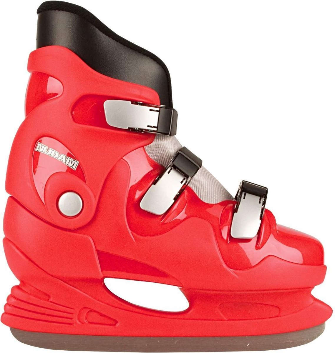 Nijdam Kids Hockey Skates - Schaatsen - Kinder - Unisex - Rood - EU 32/33
