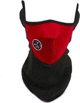 BikerVibes | Fiets Gezichtsmasker | Bandana | Gezichtsmasker | Winddicht Stofdicht | Zwart/rood