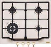FRANKE  Inbouw Gaskookplaat Classic FHCL604 - Kleur : romig - geïntegreerde elektrische Ontsteking