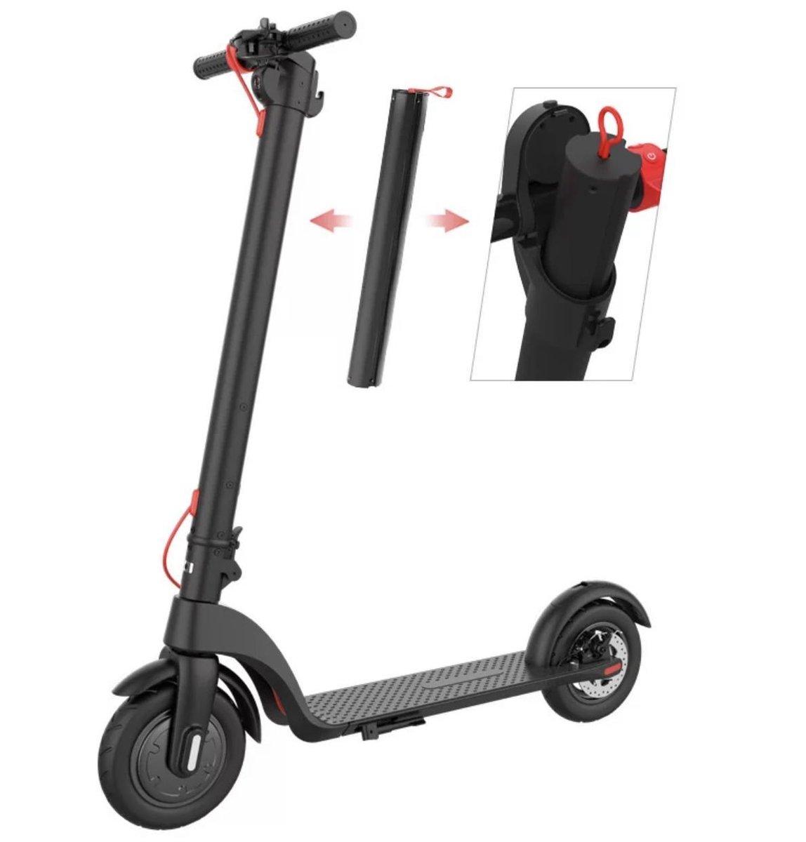 X7 - Elektrische step/E- Scooter met uitneembare accu - Zwart