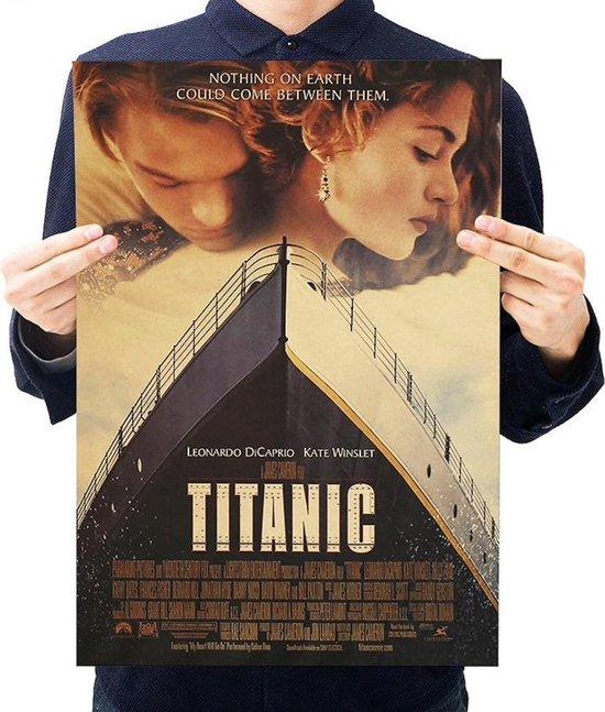 Poster - Vintage - Cover - Affiche - Titanic - Leonardo DiCaprio - Kaart - Visueel - Kraftpapier - Film - Woondecoratie - Muur - Titanic